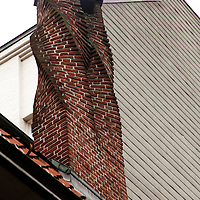 Europe, Germany, Hamburg. Twisted Chimney of the Shopkeepers' Guild, Hamburg.