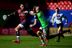 Nathan Hughes of Bristol Bears is marked by Aaron Morris of Harlequins - Mandatory by-line: Ryan Hiscott/JMP - 08/03/2020 - RUGBY - Ashton Gate - Bristol, England - Bristol Bears v Harlequins - Gallagher Premiership Rugby