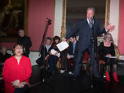 LADY NADIRA NAIPAUL; TIM BENTINCK,, Literary Review Christmas drinks and  Bad Sex in fiction Awards, In and Out club. St. James's Sq. London. 30 November 2017