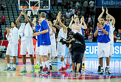 ŠPlayers of Netherland after the basketball match between Netherlands and Croatia at Day 5 in Group C of FIBA Europe Eurobasket 2015, on September 9, 2015, in Arena Zagreb, Croatia. Photo by Vid Ponikvar / Sportida