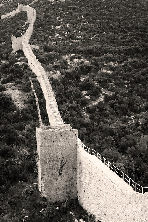 The Great Wall above Mali Ston, Ston, Dalmatian Coast, Croatia