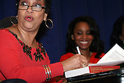 """Debbie Allen and Anika Noni Rose, at """" Cat on a Hot Tin Roof """" Press conference announcing limited broadway run,  at Broad Hurst Theater on January 8, 2008 in New York City"""