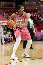 05 February 2016: Colleene Smith(1). Illinois State University Women's Redbird Basketball team hosted the Sycamores of Indiana State for a Play4 Kay game at Redbird Arena in Normal Illinois.