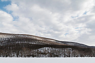 Salisbury Mills, New York  - A view of Schunnemunk Mountain frm Clove Brook Farm on March 15, 2018.