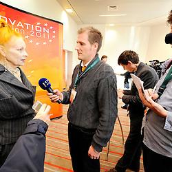 20111206 - Belgium , Brussels  - Innovation convention 2011 - Press Conference - Vivienne Westwood , Fashion Designer © European Union / Scorpix