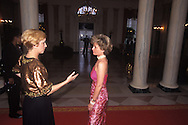 Social Secretary Ann Stock gives last minute directions before the White House State Dinner.