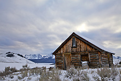 Old log cabin, Sawtooth Range, Stanley, Idaho