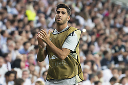 September 19, 2018 - Madrid, Spain - Real Madrid Marco Asensio during UEFA Champions League match between Real Madrid and A.S.Roma at Santiago Bernabeu Stadium in Madrid, Spain. September 19, 2018. (Credit Image: © Coolmedia/NurPhoto/ZUMA Press)