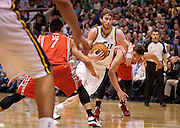 Utah Jazz small forward Gordon Hayward (20) drives the lane during the first half of the NBA game between the Jazz and the Houston Rockets at Energy Solutions Arena , Monday, Nov. 19, 2012.
