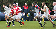 Bagshot, Surrey. UK.<br /> Danny CARE on the run, during the RFU. England Rugby Team, Training session at the Pennyhill Park training complex. <br /> <br /> [Mandatory Credit: Peter SPURRIER;Intersport images]