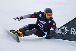 Vic Wild (RUS) during Final Run at Parallel Giant Slalom at FIS Snowboard World Cup Rogla 2019, on January 19, 2019 at Course Jasa, Rogla, Slovenia. Photo byJurij Vodusek / Sportida