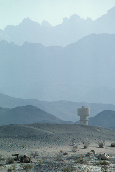 Water tower located in the city of Taif, Saudi Arabia, in the Asir mountains.