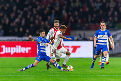 13-03-2019 NED: Ajax - PEC Zwolle, Amsterdam<br /> Ajax has booked an oppressive victory over PEC Zwolle without entertaining the public 2-1 / Younes Namli #21 of PEC Zwolle, David Neres #7 of Ajax