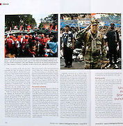 Photos for Jane's Intelligence Review feature on Red Shirt movement in Bangkok, Thailand.