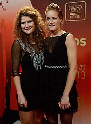17-12-2013 ALGEMEEN: SPORTGALA NOC NSF 2013: AMSTERDAM<br /> In de Amsterdamse RAI vindt het traditionele NOC NSF Sportgala weer plaats. Op deze avond zullen de sportprijzen voor beste sportman, sportvrouw, gehandicapte sporter, talent, ploeg en trainer worden uitgereikt / (L-R) Roos Drost,  Carlien Dirkse van den Heuvel<br /> ©2013-FotoHoogendoorn.nl