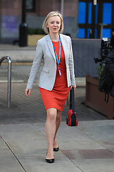 © Licensed to London News Pictures . 03/10/2017. Manchester, UK. Liz Truss at the start of day three of the Conservative Party Conference at the Manchester Central Convention Centre . Photo credit: Joel Goodman/LNP