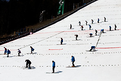 Workers during Ski Flying Hill Men's Team Competition at Day 3 of FIS Ski Jumping World Cup Final 2017, on March 25, 2017 in Planica, Slovenia. Photo by Vid Ponikvar / Sportida