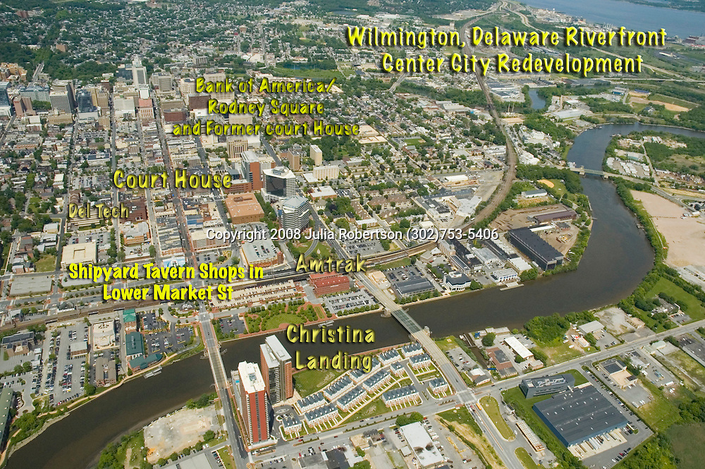 Aerial views of the Wilmington Delaware
