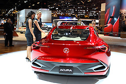 11 February 2016: Acura Precision.<br /> <br /> First staged in 1901, the Chicago Auto Show is the largest auto show in North America and has been held more times than any other auto exposition on the continent.  It has been  presented by the Chicago Automobile Trade Association (CATA) since 1935.  It is held at McCormick Place, Chicago Illinois<br /> #CAS16