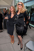 TRACEY EMIN; JERRY HALL, Opening of Love is what you want. Exhibition of work by Tracey Emin. Hayward Gallery. Southbank Centre. London. 16 May 2011. <br /> <br />  , -DO NOT ARCHIVE-© Copyright Photograph by Dafydd Jones. 248 Clapham Rd. London SW9 0PZ. Tel 0207 820 0771. www.dafjones.com.