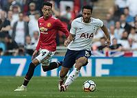 Football - 2017 / 2018 FA Cup - Semi-Final: Manchester United vs. Tottenham Hotspur<br /> <br /> Mousa Dembele (Tottenham FC)  breaks away from Jesse Lingard (Manchester United) at Wembley Stadium.<br /> <br /> COLORSPORT/DANIEL BEARHAM