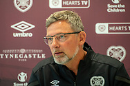 Heart of Midlothian manager Craig Levein speaks to the press ahead of the Betfred Scottish League Football Cup quarter-final match against Aberdeen, at Oriam Sports Performance Centre, Heriot Watt University, Edinburgh Scotland on 24 September 2019. Picture by Malcolm Mackenzie