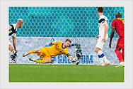 Lukas Hradecky. Finland - Belgium. Euro 2020. Saint Petersburg, Russia. June 21, 2021.