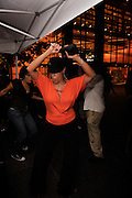 People dancing, partying, and having a good time at Lee Jones's Sundae dance party in 2011. This weekly event is held at Table 31 each Sunday in Center City. Celebrating DJ DEL's birthday. The Hurt was on!