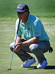 Charley Hoffman waits to putt on the 2nd green during the third round of the Masters Tournament at Augusta National Golf Club in Augusta, Ga., on Saturday, April 8, 2017. (Photo by Jeff Siner/Charlotte Observer/TNS) *** Please Use Credit from Credit Field ***