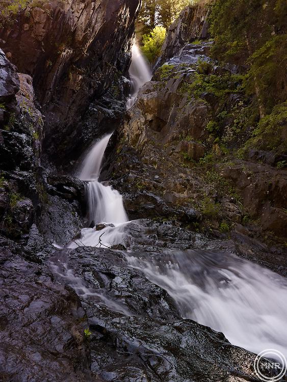 Pine Creek falls in Paradise Valley Montana.