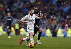 January 19, 2019 - Madrid, Madrid, Spain - Dani Carvajal (Real Madrid) seen in action during the La Liga football match between Real Madrid and Sevilla FC at the Estadio Santiago Bernabéu in Madrid. (Credit Image: © Manu Reino/SOPA Images via ZUMA Wire)