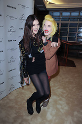 Left to right, SOPHIE WILLING and PAM HOGG at a screening of a short film directed by Willem Jaspert and Stephen Langmanis to celebrate the launch of Bella Freud and Susie Bick's first design collaboration held at Town Hall, 8 Patriot Square, London E2 on 6th September 2010.