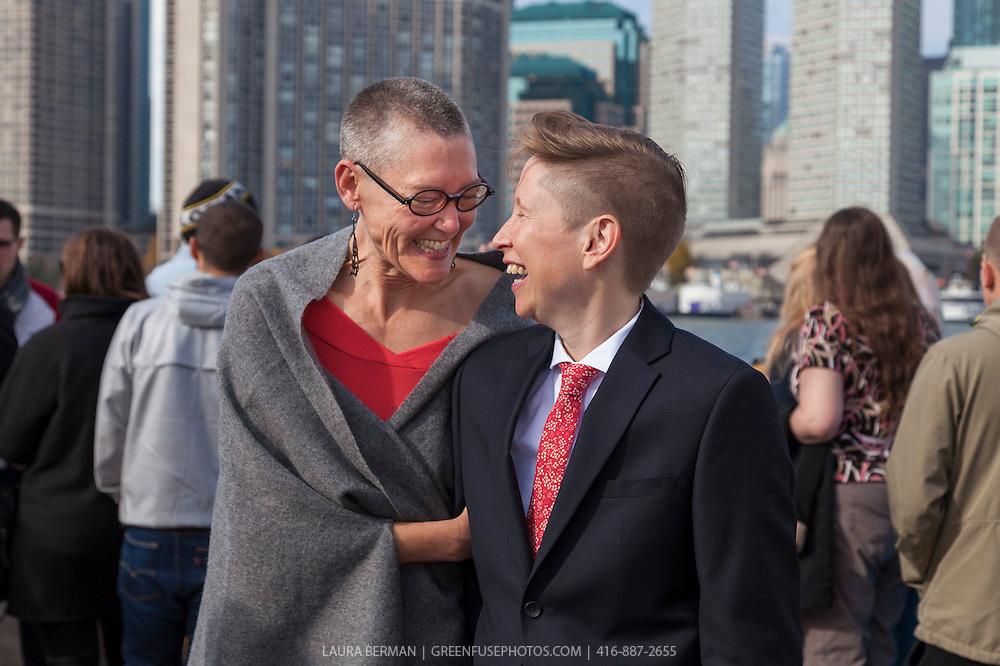 Lorraine Johnson and Pam Ward's wedding. November 5, 2016.