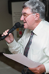 Man singing at Age Concern local talent show,