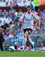 Photo: Mark Stephenson. <br /> Aston Villa v Liverpool. Barclays Premiership. 11/08/2007. <br /> Liverpool's Faernando Torres