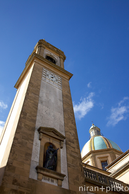 The resplendent dome and bell tower of Duomo Di San Guiliano.