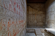 The false stela door on the west wall in the mastaba tomb of Kagemni
