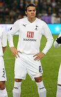 Photo: Maarten Straetemans/Sportsbeat Images.<br /> Anderlecht v Tottenham Hotspur. UEFA Cup. 06/12/2007.<br /> Jermaine Jenas (Tottenham)