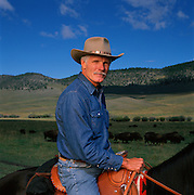Ted Turner on his Montana buffalo ranch.  The media mogul is the largest landowner in the United States outside of the government.