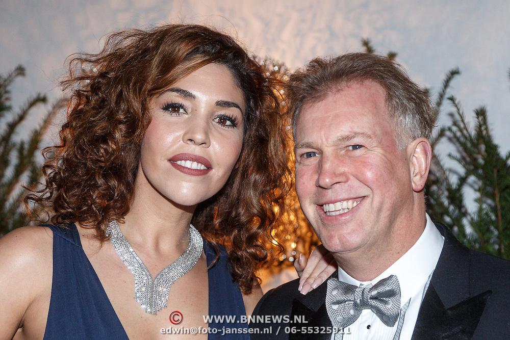 NLD/Amsterdam/20151210 - Vipnight LXRY Masters of Luxery 2015, Hind Larousi Tahari en partner Marcel Boekhoorn