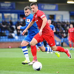 TELFORD COPYRIGHT MIKE SHERIDAN Aaron Williams of Telford during the Vanarama National League Conference North fixture between Curzon Asthon and AFC Telford United on Saturday, November 9, 2019.<br /> <br /> Picture credit: Mike Sheridan/Ultrapress<br /> <br /> MS201920-028