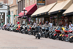 Main Street in Deadwood during the Sturgis Black Hills Motorcycle Rally, Friday, August 9, 2019. Photography ©2019 Michael Lichter.