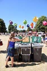 Latitude Festival, Henham Park, Suffolk, UK July 2018. Waste & recycling bins