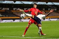 Football - 2021 UEFA European Under-21 Championship - Qualifying - Group 3 - England vs Andorra<br /> <br /> Rhian Brewster of England and Joel Guillen of Andorra <br /> <br /> COLORSPORT/PAUL GREENWOOD