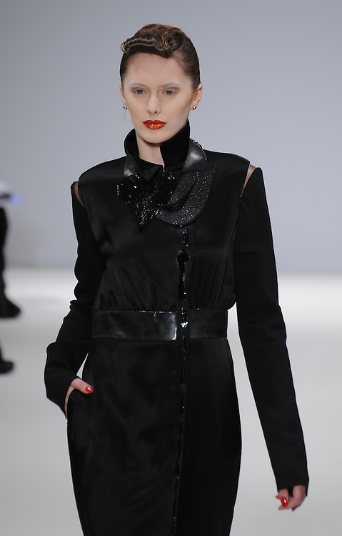 Models walk the runway for Bernard Chandran Spring 2012 fashion show during London Fashion Week, London, UK. 18/02/2012 Anne-Marie Michel/CatchlightMedia