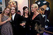SUSAN PARKES; CHARLES ELIASCH; JUSTINE GLENTON; AMANDA ELIASCH, Party at the home of Amanda Eliasch in Chelsea after the opening of As I Like it. A memory by Amanda Eliasch and Lyall Watson. Chelsea Theatre. Worl's End. London. 4 July 2010<br /> <br />  , -DO NOT ARCHIVE-© Copyright Photograph by Dafydd Jones. 248 Clapham Rd. London SW9 0PZ. Tel 0207 820 0771. www.dafjones.com.