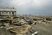 Downtown Olde Towne in BAtSt. Lous after Hurricane Katrina.bay at Bay St. Louis pictured after Hurricane Katrina blew through town Thursday Sept. 1,2005.Katrina is the worst storm to ever hit American soil in history.(Photo/SuziAltman)