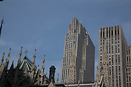 New York The Rockfeller center and Saint Patrick cathedral