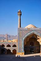 Iran, province d'Ispahan, Ispahan, Mosquée du Vendredi, classée Patrimoine Mondial de l'UNESCO // Iran, Isfahan, Friday mosque, world heritage of the UNESCO
