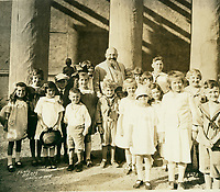 1923 Alfred Hertz and children at the Hollywood Bowl